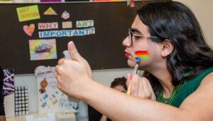 Trans Youth Putting Make-Up